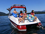 boating on cultus lake